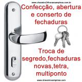 chaveiro em sp preço Parque São Rafael